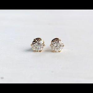 2ct OEC Moissanite Stud Earrings 14k Gold Setting